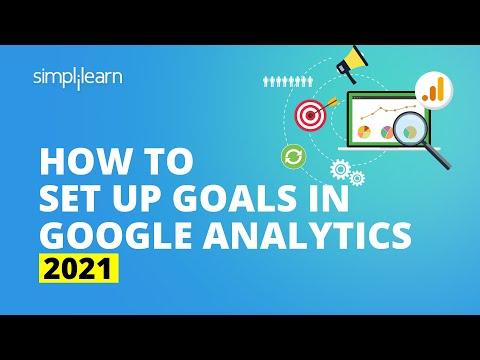 How To Set Up Goals In Google Analytics 2020 | Google Analytics Advanced | Simplilearn