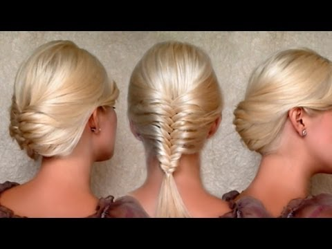 French Fishtail Braid And Christmas New Year S Eve Updo