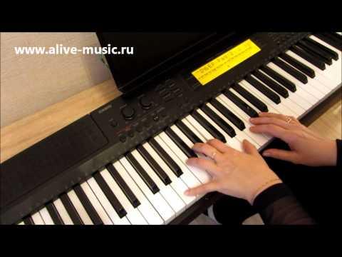 Happy New Year на фортепиано, видеоурок