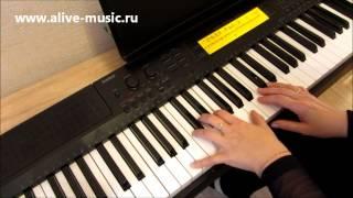 Happy New Year на фортепиано, видеоурок.