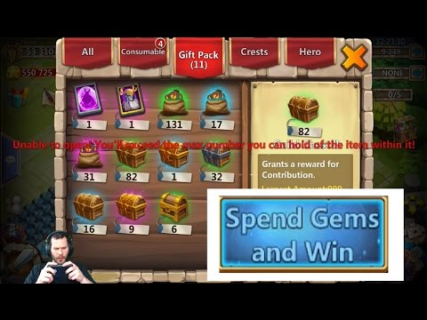 JT's Free 2 Play Spend GEMS & Win Finally 5Mil GOLD Time To Evolve Castle Clash