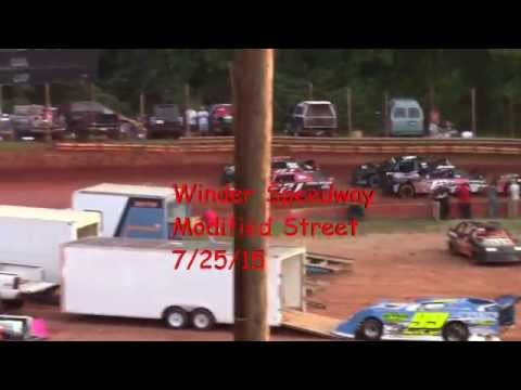 Winder Barrow Speedway Modified Street Feature Race 7/25/15