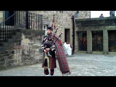 Scottish Bag Piper At Edinburgh Castle