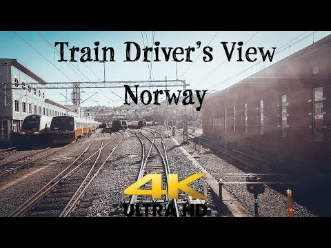 TRAIN DRIVER'S VIEW: From the Depot in Oslo to Ål in 4K UltraHD