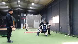 야구 포수 프레이밍 & 심판 트렉킹 훈련 & 피칭머신