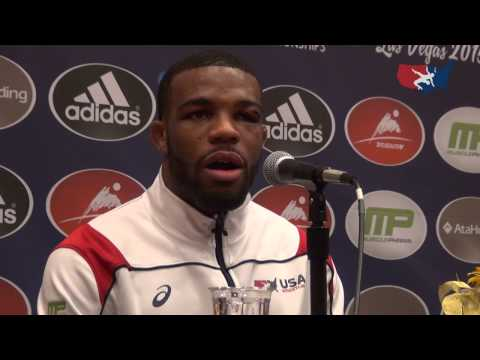 2015 World Champion Jordan Burroughs Gold Medal Press Conference