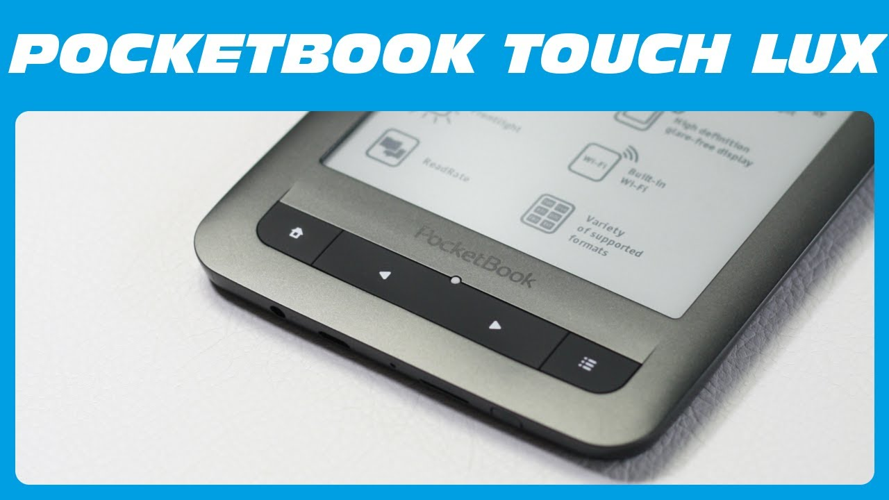 Pocketbook Touch Lux (eBook Reader) Unboxing & Kurzreview - YouTube