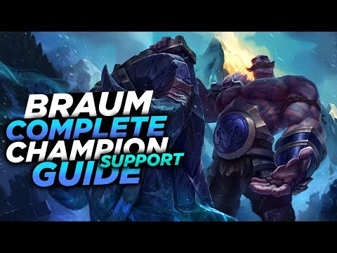 STAND BEHIND ME!! - SEASON 8 BRAUM GUIDE! - League Of Legends