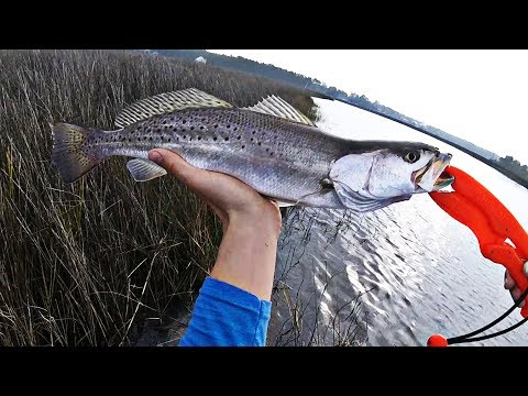 Kayak Fishing - Winter Time Speckled Trout & Redfish