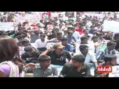10 milion students rise up Tamilnadu Students Protest - Free Tamil Eelam  Teil 1
