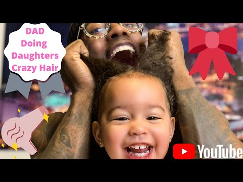 Daddy Does Daughter's Hair For The First Time
