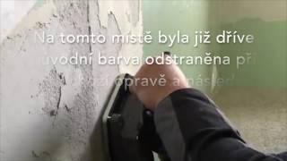 Bruska k sanaci stěn a podlah od barev, lepidel a stěrek
