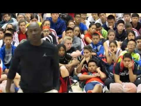Michael Jordan's Flight School:  July 31, 2016 - MJ's Freethrow Clinic