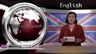 Criticism of verbal armament against Russia (klagemauer.tv)
