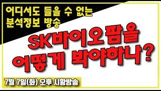 [ 7월 7일 화요일 오후 시황방송  ] SK바이오팜을 어떻게 봐야하나?