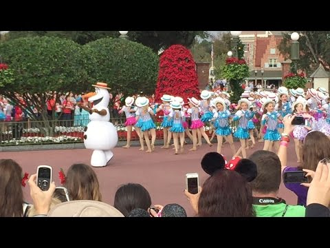 Olaf and dancers perform