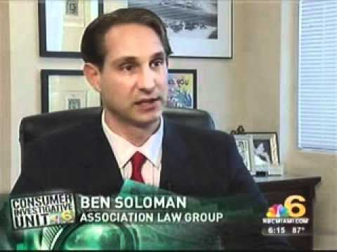 new release detailed look excellent quality NBC6 Miami Interviews Ben Solomon of Association Law Group ...