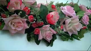 Розовые украшения для свадебных машин в аренду