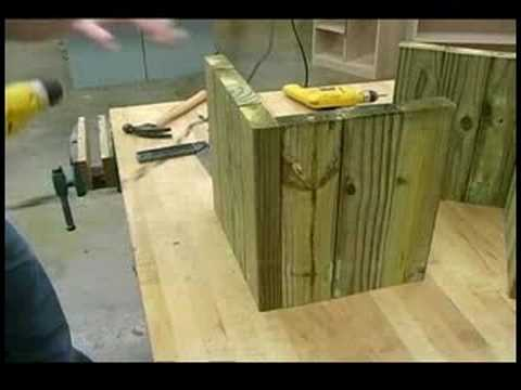 Building Wooden Garden Planters : Building Wooden Garden Planters: Base  Assembly   YouTube
