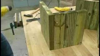 Building Wooden Garden Planters : Building Wooden Garden Planters: Base Assembly