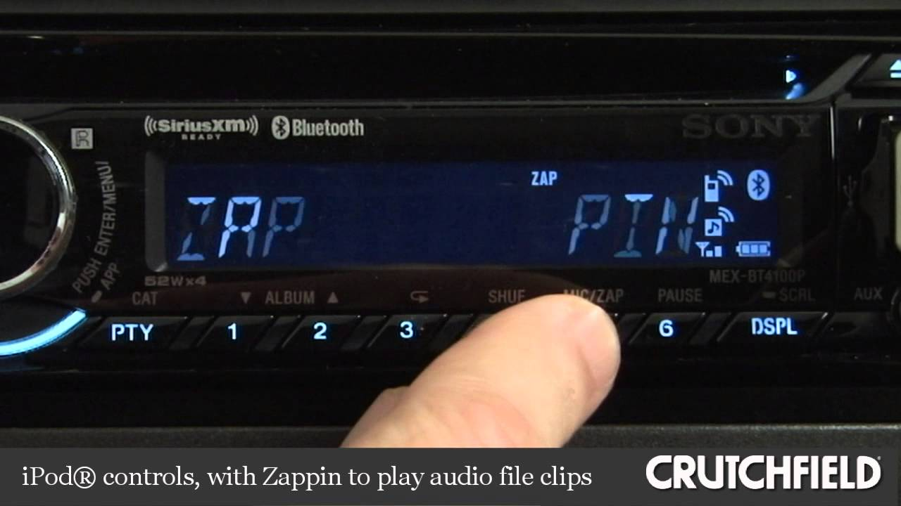 sony mex btp cd receiver display and controls demo sony mex bt4100p cd receiver display and controls demo crutchfield video