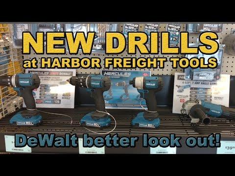 Harbor Freights new Hercules Drills (DeWalt killers?)