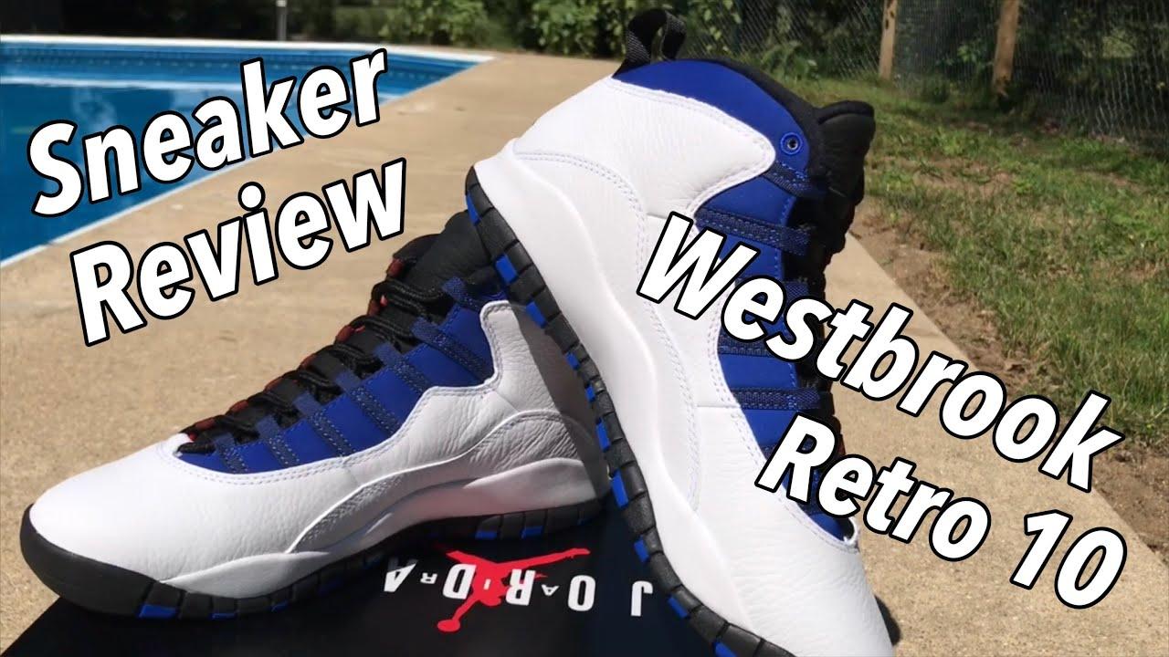 finest selection 80059 7e6b3 Sneaker Review: Westbrook Air Jordan Retro 10