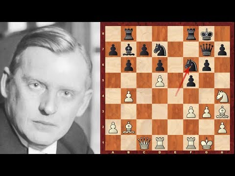 Evolution of Chess Style #139: Alekhine brilliancy game at N