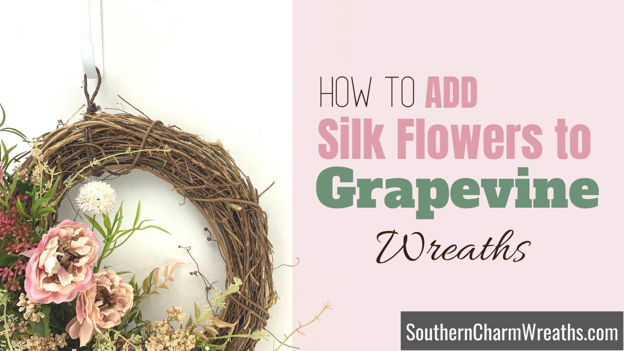 Tip Tuesday | Correct Way to Insert Flower Stems into Grapevine Wreaths