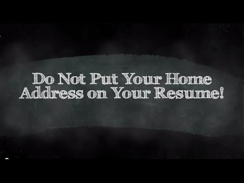 Do Not Put Your Home Address On Your Resume! says Rick Gillis - YouTube