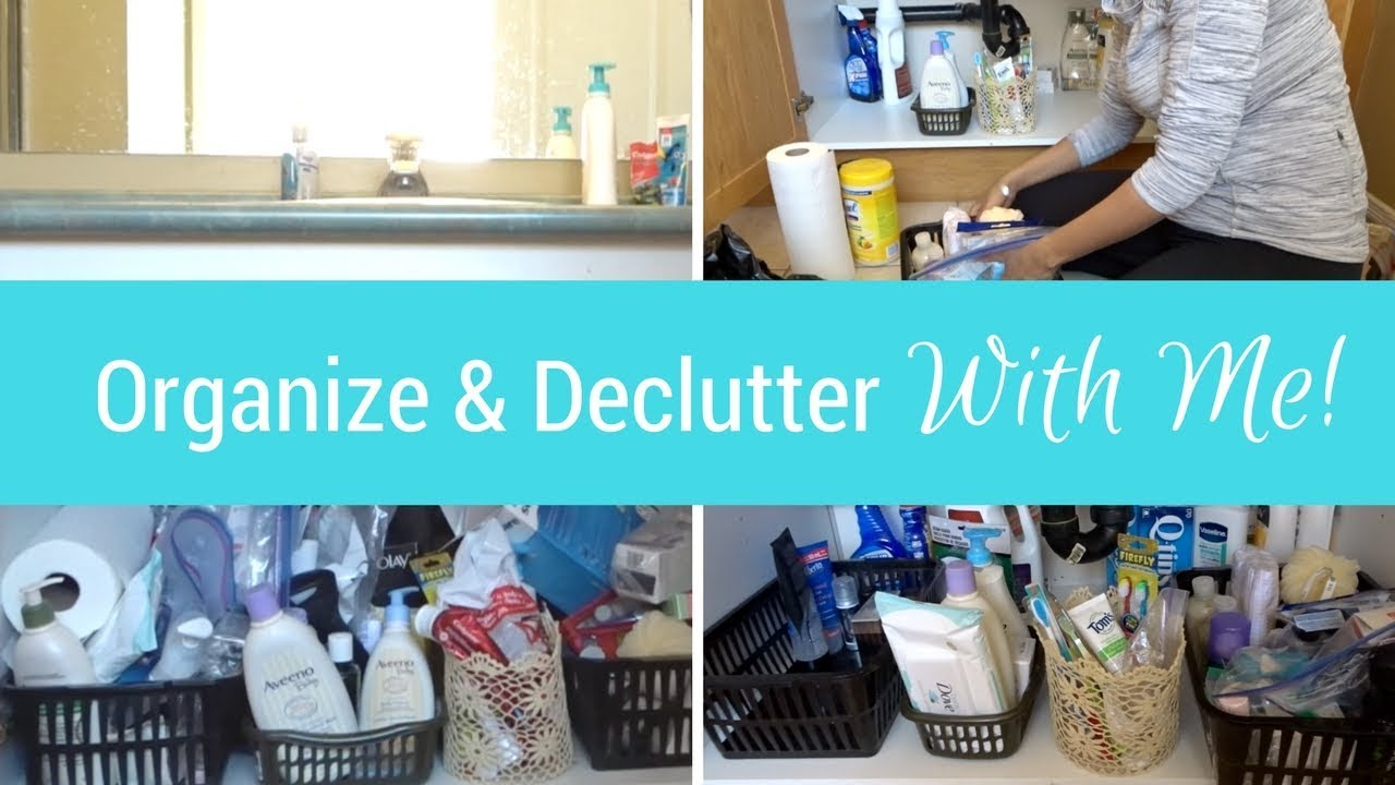 Organize And Declutter With Me Bathroom Cabinet Chatty Clean With Me Mom Boss Of 3