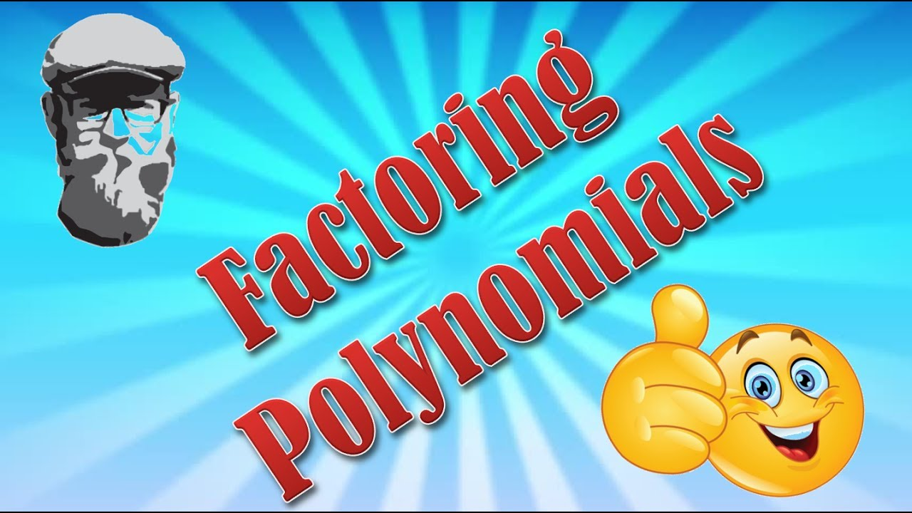 How To Factor Polynomials  Monomials Part 1 Algebra 1