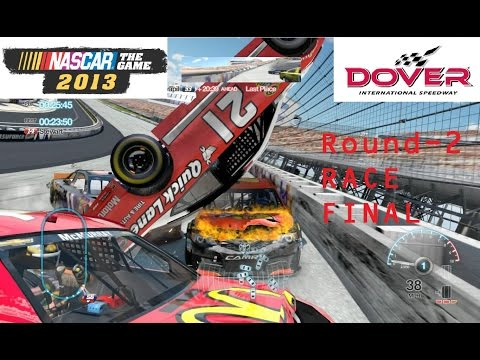 Nascar the game 2013 - Dover Round-2 Race final. (Бешеные аварии!)