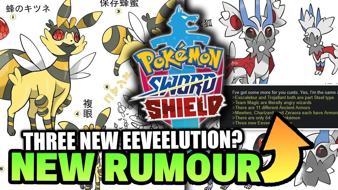 New Pokemon Sword Shield Rumour Three New Eeveelutions Only 65