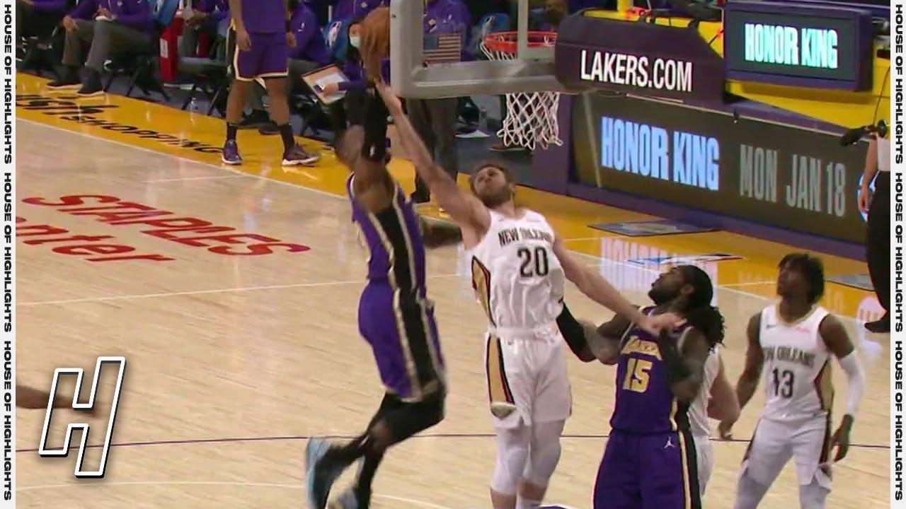 LeBron James SICK Putback Dunk - Pelicans vs Lakers | January 15, 2020-21 NBA Season