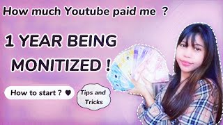 How Much I Earned In Youtube 1 Year Being Monitized - How To Start Your Own Youtube Channel 2021