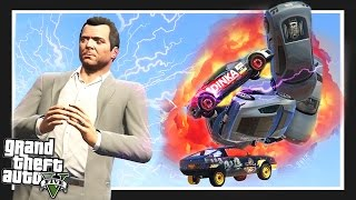 UNLIMITED POWER!! GTA 5 FORCE MOD!! (GTA 5 Funny Moments)