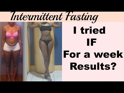Intermittent Fasting | 1 week RESULTS