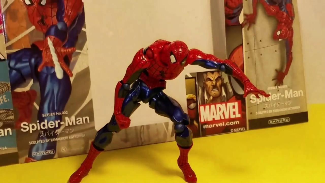 MARVEL SPIDER-MAN SCULPTED BY YAMAGUCHI KATSUHISA 002 ACTION FIGURES KAIYODO TOY