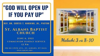 """""""GOD WILL OPEN UP IF YOU PAY UP""""   Malachi 3 vs 8-10"""
