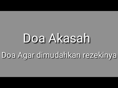 Doa Akasah-Doa Agar Dimudahkan Rezekinya