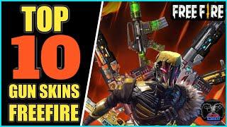 TOP 10 GUN SKINS IN FREE FIRE (Long Range/2019) ||  BEST GUN IN FREE FIRE || GARENA FREE FIRE