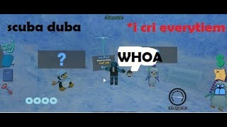 AN ICY SITUATION! ROBLOX Scuba diving at quill lake