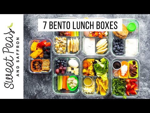 7 (Almost) NO COOK Bento Box Ideas | Vegan Options * Low Carb Options