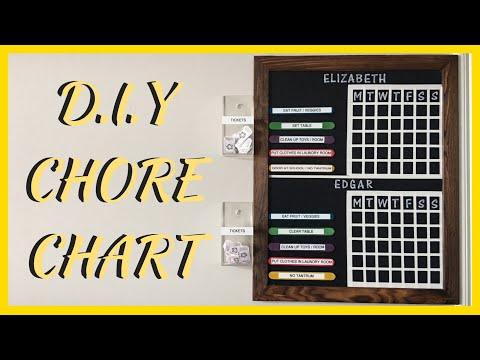 D.I.Y CHORE BOARD / CHART