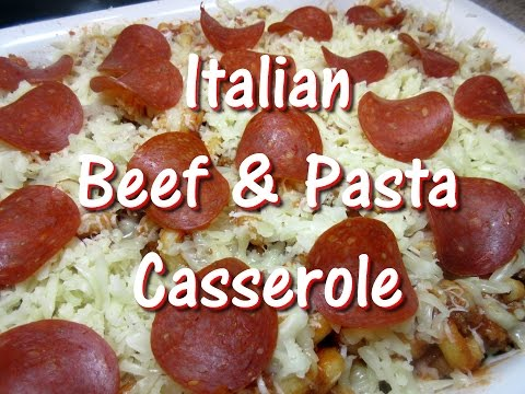 Cheesy Italian Ground Beef & Pasta Bake Casserole Recipe