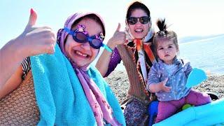 Fındık Ailesi deniz kenarına gidiyor. Komik videolar