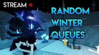 Playing Random (Mostly Unplanned) Winter Event Queues | Tower Battles [ROBLOX]