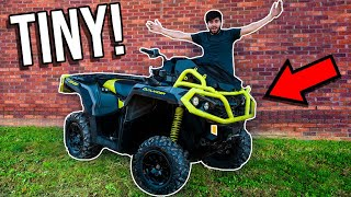 TINY Tires on 90HP Four-Wheeler! *CRAZY WHEELIES & BURNOUTS*