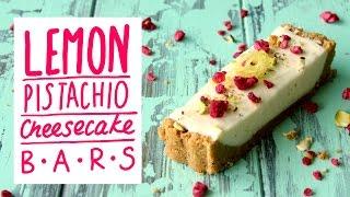 Lemon Pistachio Cheesecake Bars